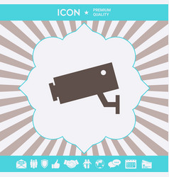 security camera icon graphic elements for your vector image