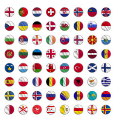 Set all flags europe vector
