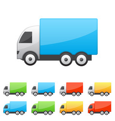 set of truck icons vector image