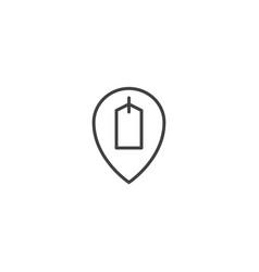 shop loacation icon vector image