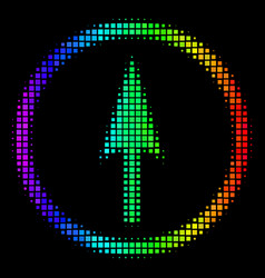 Spectrum dotted sharp rounded arrow icon vector