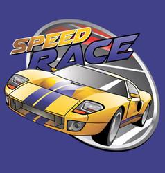 Speed race vector