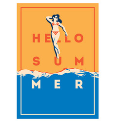 summer holiday and summer camp poster vector image vector image