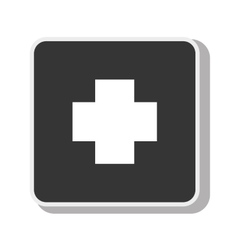 symbol cross medical medicine design vector image