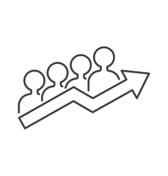 Teamwork business people teambuilding icon group vector image