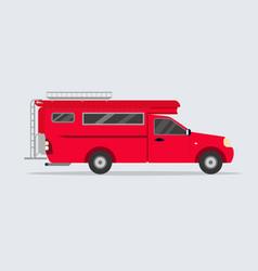 Thai red minibus flat designred thailand van vector