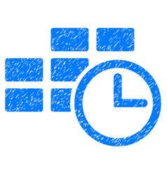 Time table grunge icon vector