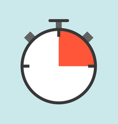 timer or stopwatch flat design icon soccer related vector image