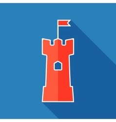 Tower flat icon vector