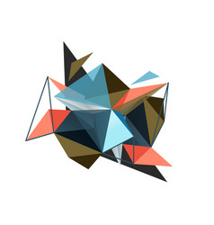 Triangle abstract background low poly vector