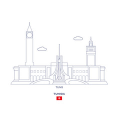Tunis city skyline vector