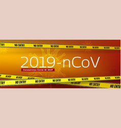 virus covid19 19-ncp inform banner with text vector image