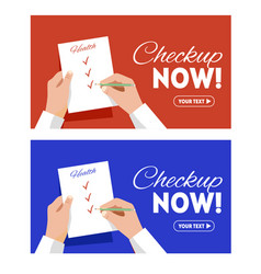 voting on a sheet hands with pen vector image