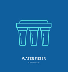 Water filter plumber equipment vector