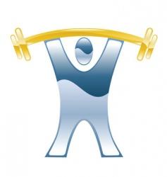 Weightlifter illustration vector