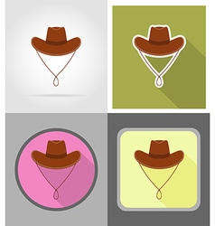 Wild west flat icons 12 vector