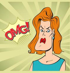 Woman in shock vector