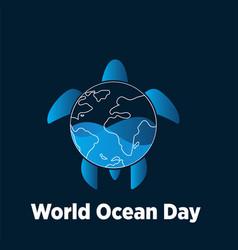 World oceans day concept design vector