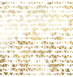 Golden shiny triangle mosaic on white vector image