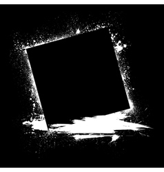 Grunge ink blots black vector image vector image