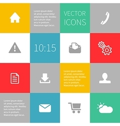 squares background infographics with icons vector image vector image