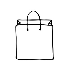 doodle style shopping bag vector image