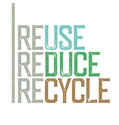 Reuse reduce recycle Stamp grunge letters vector image vector image