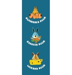 Rodents animals icons format vector image