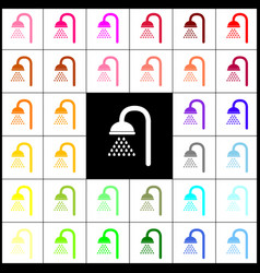 shower sign felt-pen 33 colorful icons at vector image vector image