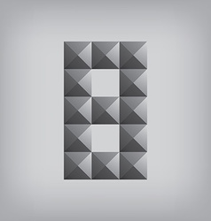 8 number eight alphabet geometric icon and sign vector image