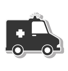 ambulance emergency urgency siren design vector image