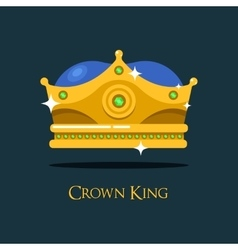 Blinking shiny king golden crown or crest vector
