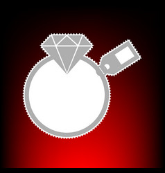 diamond with tag vector image vector image