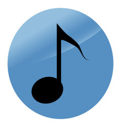 Icon note flat modern music style vector image vector image