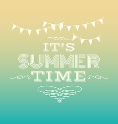its summer time vector image