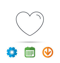 love heart icon life sign vector image
