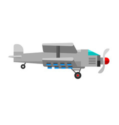 airplane plane passenger white vector image