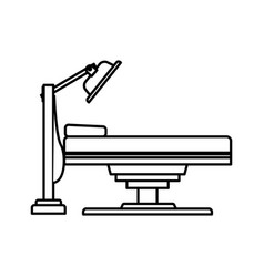 bed medical examination healthy line vector image