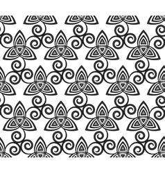 Black and white celtic triskels seamless vector image