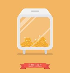 Donate box flat icon vector
