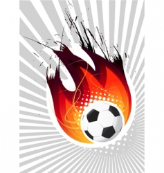 fire ball vector image vector image