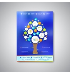 Modern template brochure magazine flyer booklet vector image