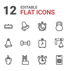 12 bell icons vector