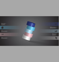 3d infographic template with cylinder vector image