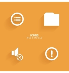 Abstract Web Icons vector image vector image
