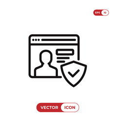 account icon vector image