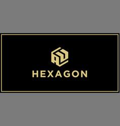 Au hexagon logo vector