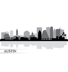 Austin city skyline silhouette background vector