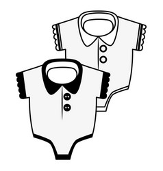 babodysuits on white background vector image
