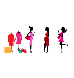 big sale concept with three silhouettes beautiful vector image